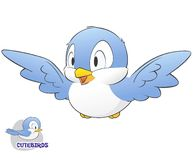 Милая птица шаржа Стоковая Фотография RF