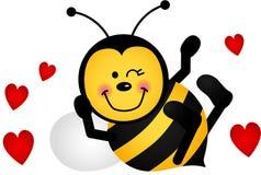Милая пчела влюбленности Стоковая Фотография
