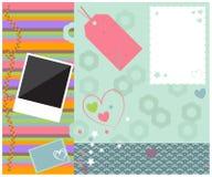 Милая плана шаблона Scrapbook красочная бесплатная иллюстрация