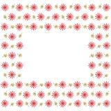 Милая рамка границы предпосылки с цветками и листьями иллюстрация штока