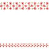Милая рамка границы предпосылки с цветками и листьями бесплатная иллюстрация