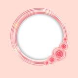 Милая рамка с розовой иллюстрацией вектора цветков Стоковые Фото