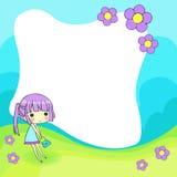 милая рамка шаржа Стоковая Фотография RF