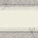 Милая рамка шнурка с элегантными цветками Стоковая Фотография RF