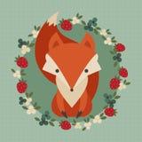 Милая ретро иллюстрация лисы бесплатная иллюстрация