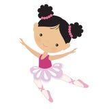 Милая розовая иллюстрация вектора балерины Стоковая Фотография