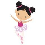 Милая розовая иллюстрация вектора балерины Стоковые Изображения