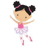 Милая розовая иллюстрация вектора балерины Стоковая Фотография RF