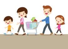 Милая семья ходя по магазинам совместно Стоковое Фото