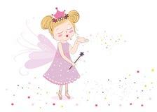 Милая сказка посылая fairy пыль иллюстрация вектора