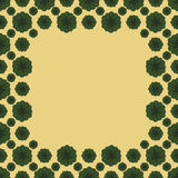 Милая смешная рамка границы квадрата картины предпосылки Стоковые Фотографии RF