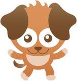 Милая собака младенца усмехаясь и раскрывая свои оружия иллюстрация штока