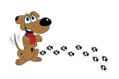 Милая собака стоя на заднем стоковые изображения rf