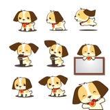 Милая собака щенка петь Стоковая Фотография RF