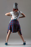 Милая современная девушка танцора стоковые фото