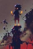 Милая тварь изверга сделанная от тлеющих углей бесплатная иллюстрация