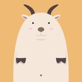 Милая тучная большая коза Стоковое Фото