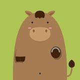Милая тучная большая коричневая лошадь Стоковые Фото