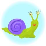 Милая улитка шаржа - иллюстрация Стоковые Изображения RF
