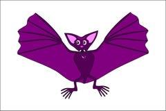 Милая фиолетовая летучая мышь летания Стоковая Фотография