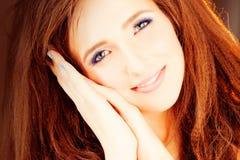 Милая фотомодель женщины девушки Стоковое Изображение RF