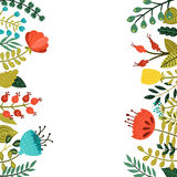 милая флористическая рамка Стоковое Изображение RF