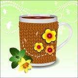 Милая чашка в свитере Стоковые Изображения