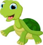 Милая черепаха шаржа иллюстрация вектора