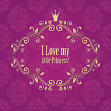 Милая яркая розовая фиолетовая предпосылка штофа Стоковая Фотография