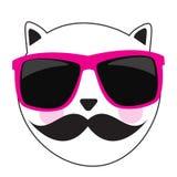 Милая Handdrawn иллюстрация вектора кота Стоковые Изображения RF