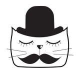 Милая Handdrawn иллюстрация вектора кота Стоковая Фотография RF