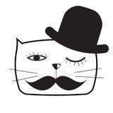 Милая Handdrawn иллюстрация вектора кота Стоковые Фотографии RF