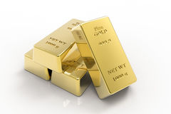Миллиард золота, золото в слитках Стоковое Изображение