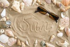 Мидии в песке Стоковая Фотография