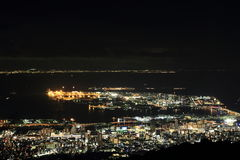 10 миллионов доллары взгляда ночи Кобе Стоковое Изображение RF