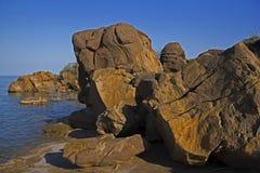 150 миллионов старые ископаемые на Kutch, ГУДЖАРАТЕ, Индии Стоковое Изображение