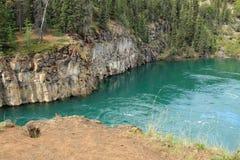 Мили каньона, Whitehorse, Юкона, Канады Стоковое Изображение