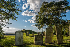 Мили кладбища na górze реки Миссисипи блефуют в Monroe County Il Стоковое Фото