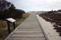 Мили песчанных дюн и белого песочного Стоковая Фотография RF