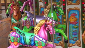 Милое движение Carousel Стоковые Изображения