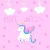 Милое волшебное unicon Стоковое фото RF