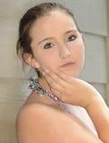 Милое выражение девочка-подростка Стоковая Фотография