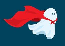 Милое летание призрака супергероя с накидкой Стоковое Фото