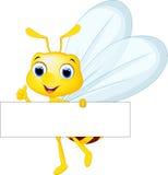 Милое летание шаржа пчелы пока носящ цветет бесплатная иллюстрация
