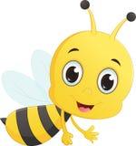 Милое летание шаржа пчелы Стоковые Изображения