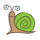 Милое животное шлама шаржа иллюстрация вектора