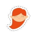 милое изображение девушки эльфа стороны иллюстрация вектора