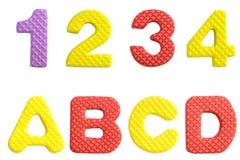 Милое и красочное пластичное письмо алфавита Стоковое Фото