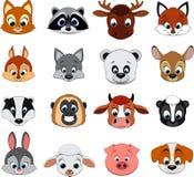 Милое красочное экзотическое собрание животных Стоковые Изображения