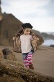 Милое море девушки Стоковые Изображения RF